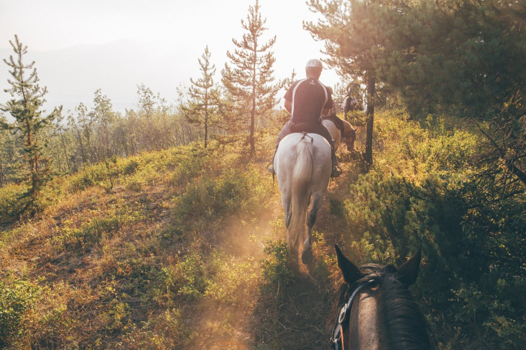 Prestige Adventurers horseback riding with Mountain View Adventures