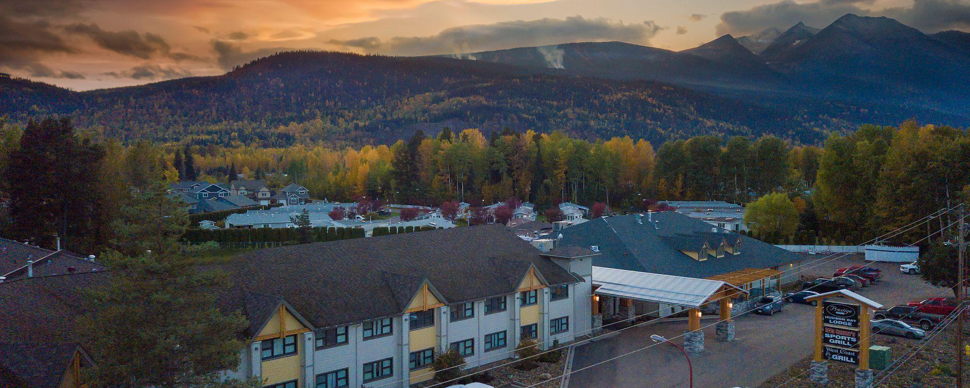 Prestige Hudson Bay exterior drone shot cropped for web
