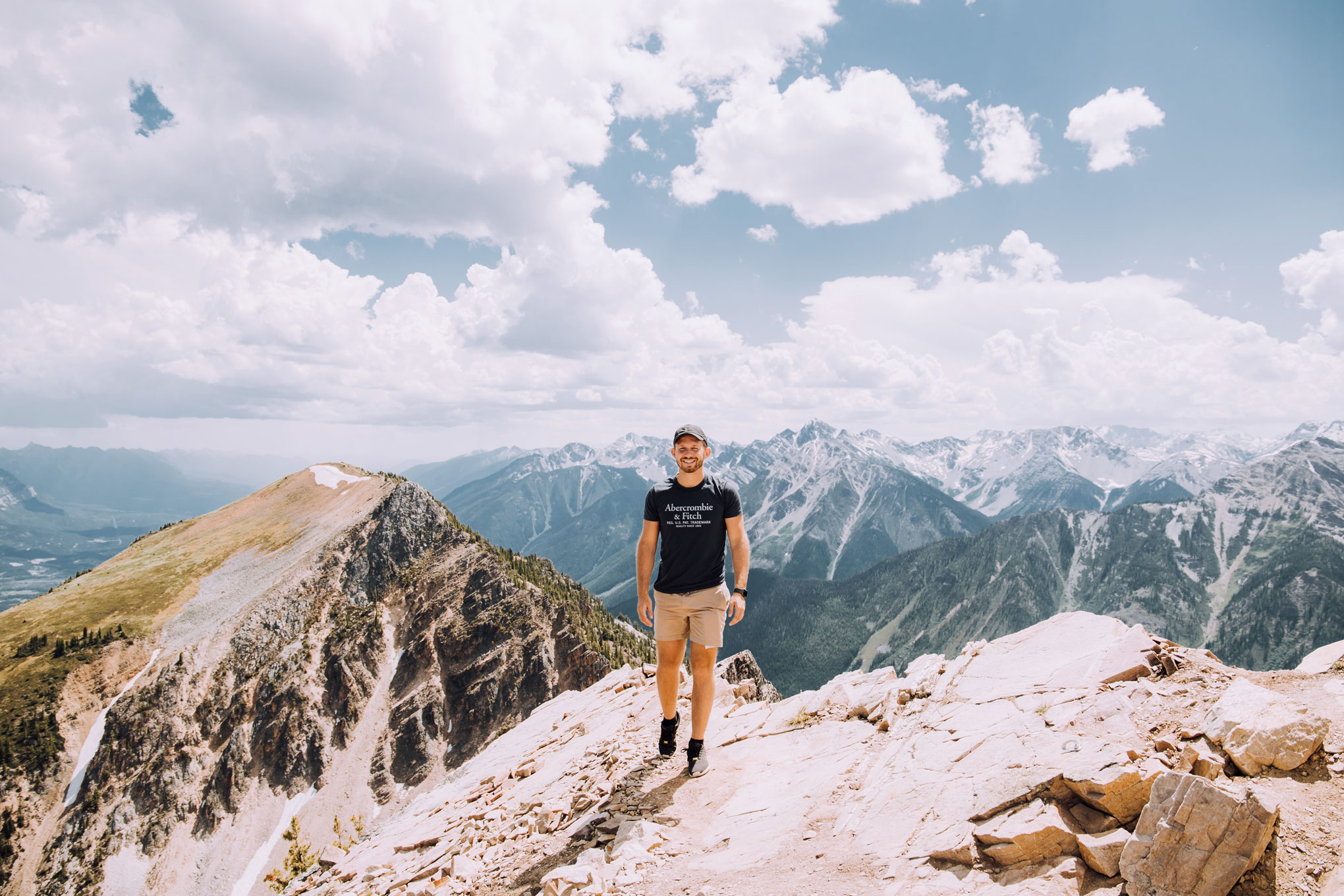 Kicking Horse Mountain in the summer