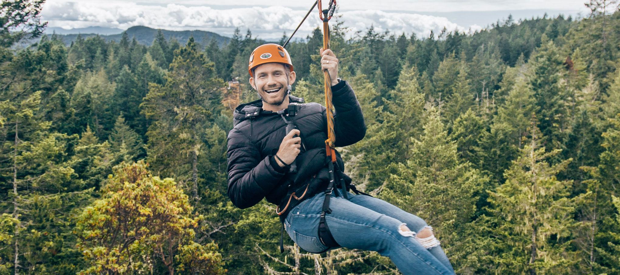 Ziplining in Sooke, BC