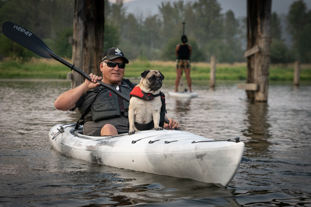 Kayaking on Moyie Lake